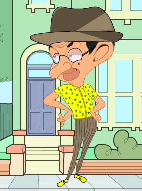 Sam with mr bean dress up Game