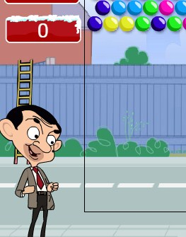 Mr Bean bubble shooter Game